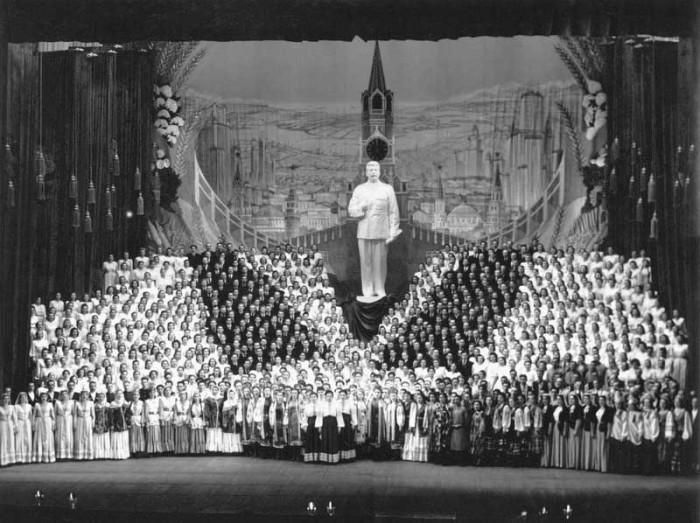 Хоровое пение. СССР, Москва, Большой театр, 1949 год.