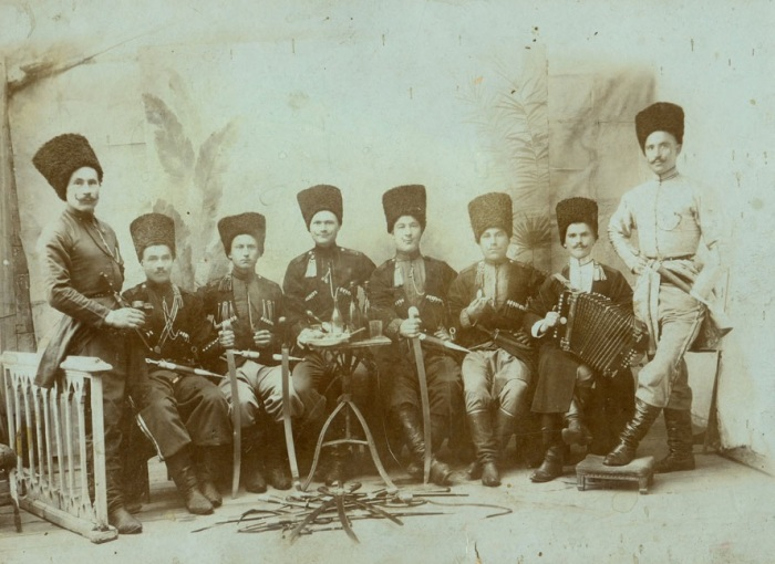 Трубаческая команда 1-го Линейного полка, 1 октября 1908 года.