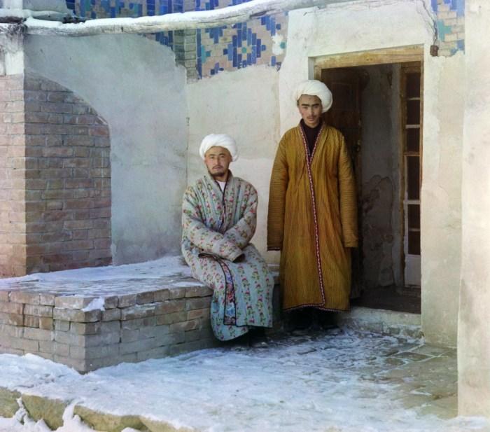 Студенты. Узбекистан, Самарканд, 1907 год.
