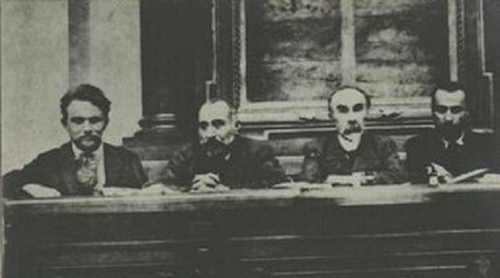 Президиум Первого Всероссийского съезда Советов рабочих и солдатских депутатов.