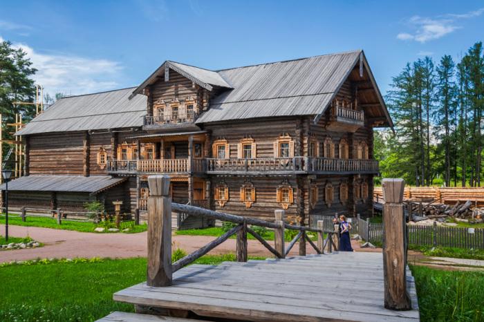 Усадьба Богословка в Невском лесопарке.