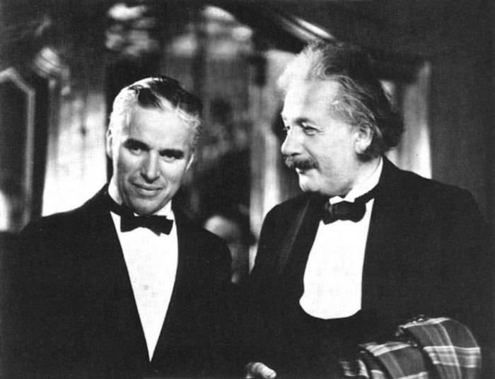 Чарли Чаплин и Альберт Эйнштейн.