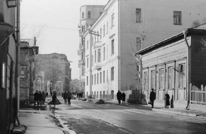 Гагаринский переулок. СССР, Москва, 1967 год.
