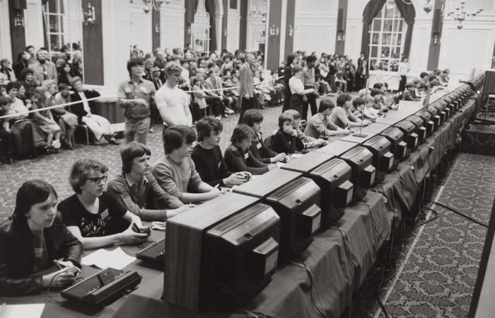 Чемпионат по игре Space Invaders в 1980 году.