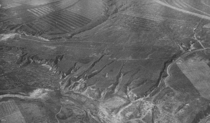 Вид с самолета по мере приближения к Сталинграду.