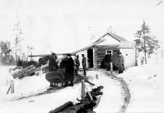 Один из пограничных постов бригады в 1908 году.