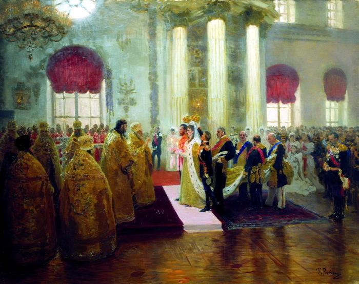 Венчание Николая II и великой княжны Александры Федоровны.