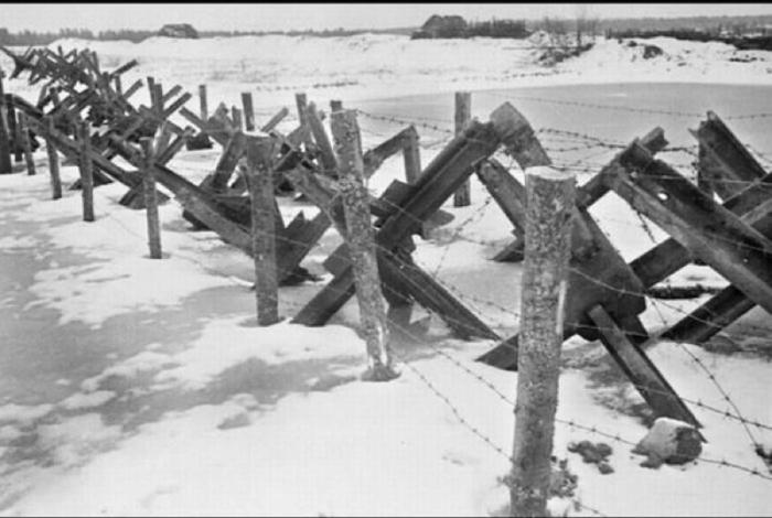 Оборонительный рубеж вокруг Москвы в декабре 1941 года.