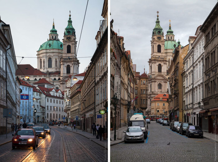 Базилика Святого Николая с разных улиц.