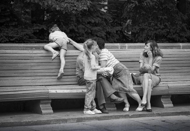 Мы – дружная семья, 1991 год. Автор фотографии: Evgeny Kanaev.