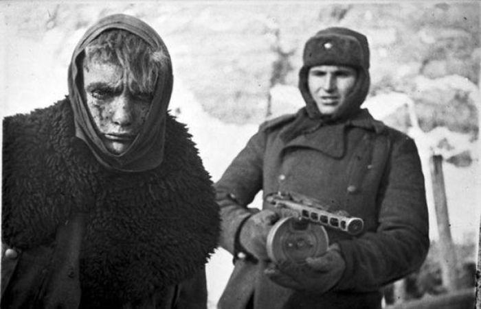 Немецкий военнопленный в феврале 1943-го.