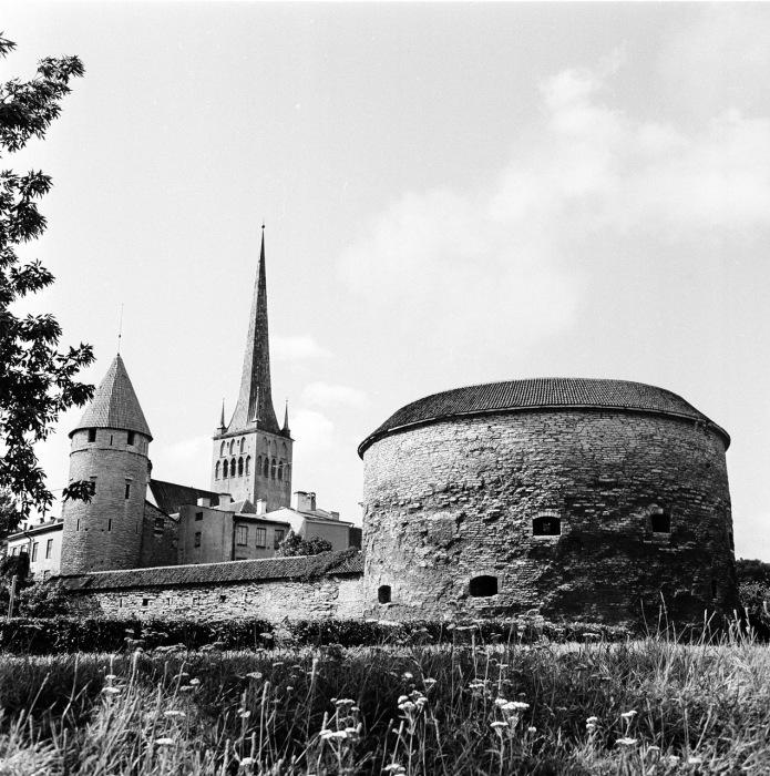Башня Толстая Маргарита в Таллине. СССР, Эстония, 1960-е годы.