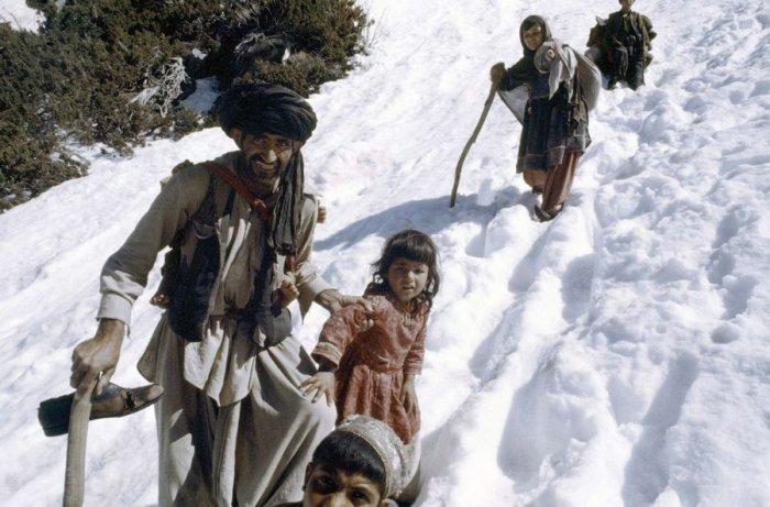 Афганские беженцы в мае 1980 года.