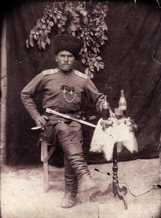 Георгиевский кавалер, Терский казак М.А.Белоусов.