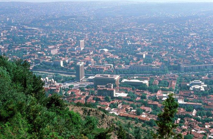 Общий вид на город Тбилиси в 1985 году.