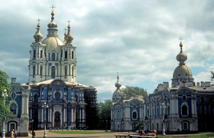 Смольный Воскресения Христова собор. СССР, Ленинград, 1977 год.