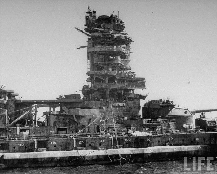 Линкор японского императорского флота. Головной корабль одноимённого типа. Линкор был назван в честь провинции острова Хонсю. Стал первым в мире линейным кораблём, вооружённым 410-мм орудиями главного калибра. «Нагато» считают первым полностью японским линкором.