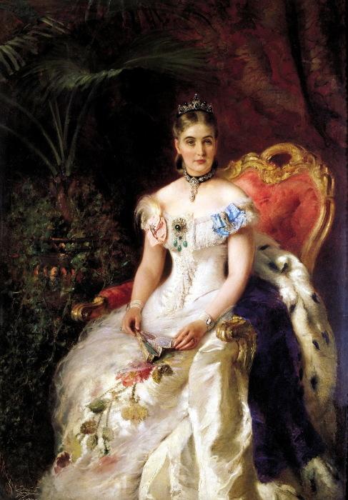 Портрет графини Марии Михайловны Волконской, написанный художником Константином Егоровичем Маковским.