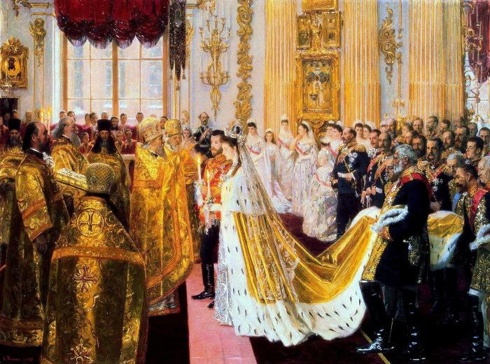 Венчание Николая II и великой княгини Александры Федоровны.