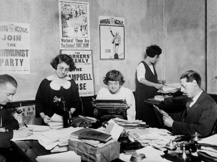 Предвыборная кампания коммунистической партии в Англии, 1928 год.