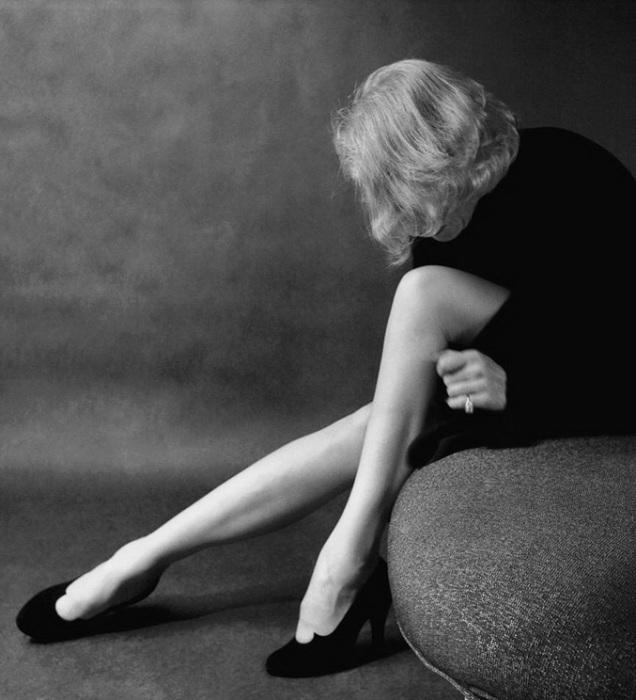 Марлен Дитрих. Снимок, сделанный в 1952 году. Photo by Milton Greene.