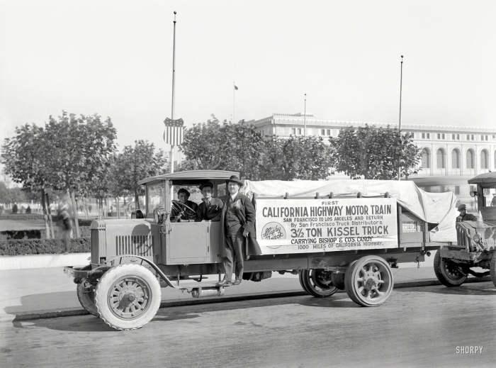 Рекламирование пневматических шин в 1919 году.