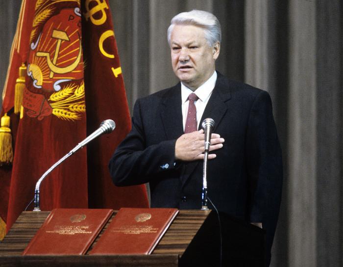 Сенсационное выступление Бориса Ельцина.