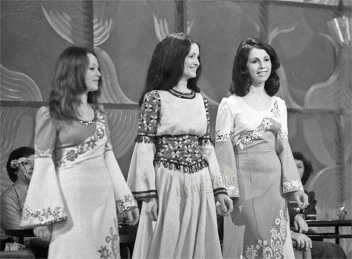 Аурика, София и Лидия Ротару во время выступления на концерте 8 октября 1978 года.