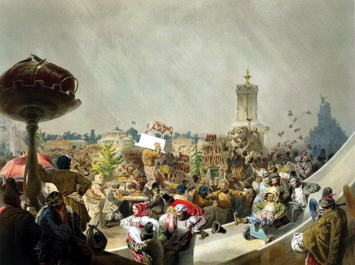 Народный праздник на Ходынском поле в Москве по случаю священного коронования императора Александра III.