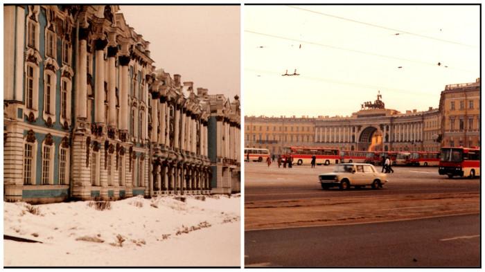Зимний Ленинград в 1985 году.