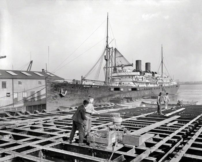 Клепальщики на верфи William Cramp & Sons Shipbuilding Company. Филадельфия, 1901 год.