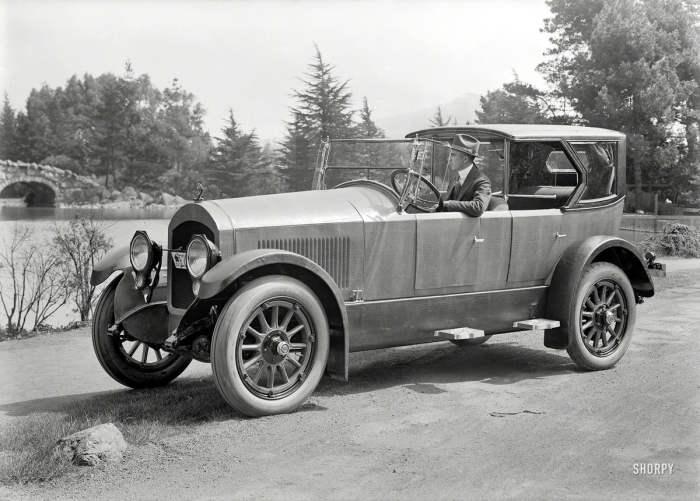 Автомобиль с обшивкой из крокодиловой кожи в 1919 году.