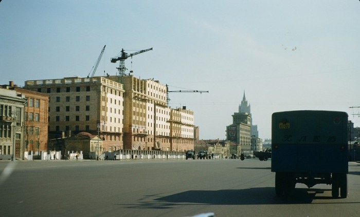 Улица Чайковского. СССР, Москва, 1950-е годы.