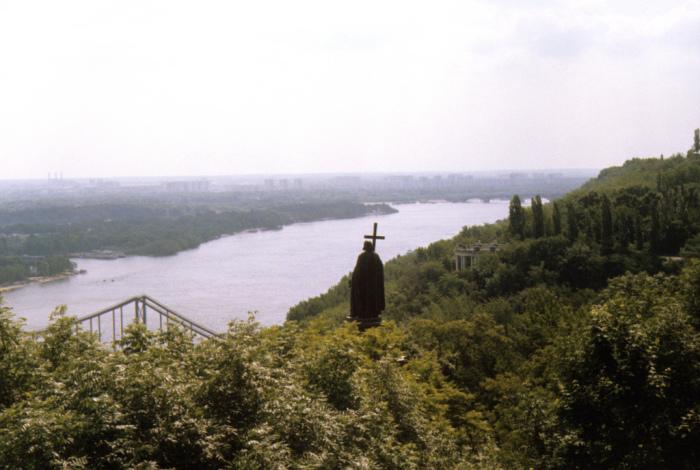 Памятник Владимиру Великому. СССР, Киев, 1977 год.