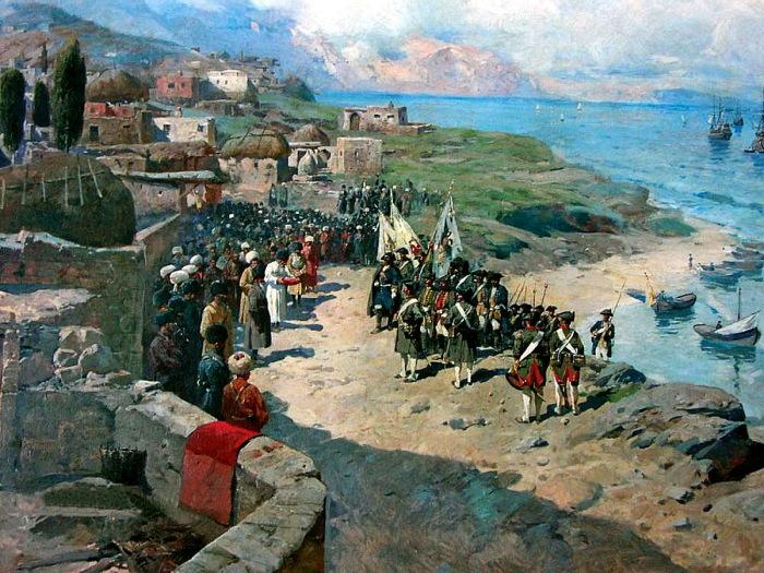 Вступление императора Петра I Великого в Тарки 13 июня 1722 года.