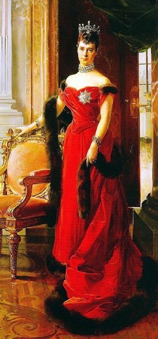 Портрет императрицы Марии Федоровны, написанный художником Франсуа Фламенгом.
