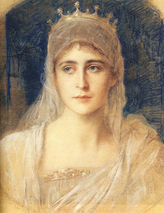 Портрет Елизаветы Фёдоровны, написанный Фридрихом Каульбахом.