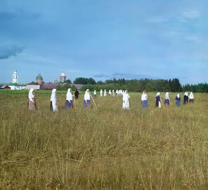 Леушинский монастырь. Россия, Новгородская губерния, Череповецкий уезд.