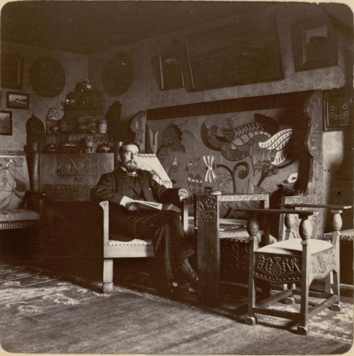 Портретный снимок князя Вячеслава Николаевича Тенишева. Россия, село Талашкино, 1909 год.