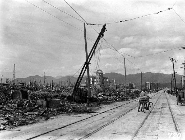 Разрушения на территории Хиросимы после атомной бомбардировки