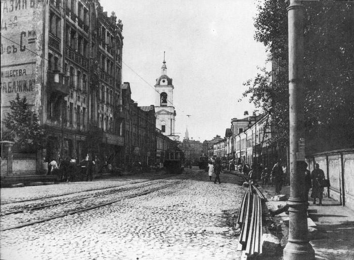 Улица в районе Замоскворечье. СССР, Москва, 1920-е годы.
