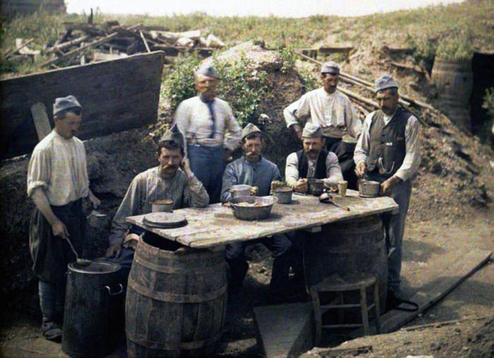 Фронтовой быт солдат и офицеров в 1917 году.