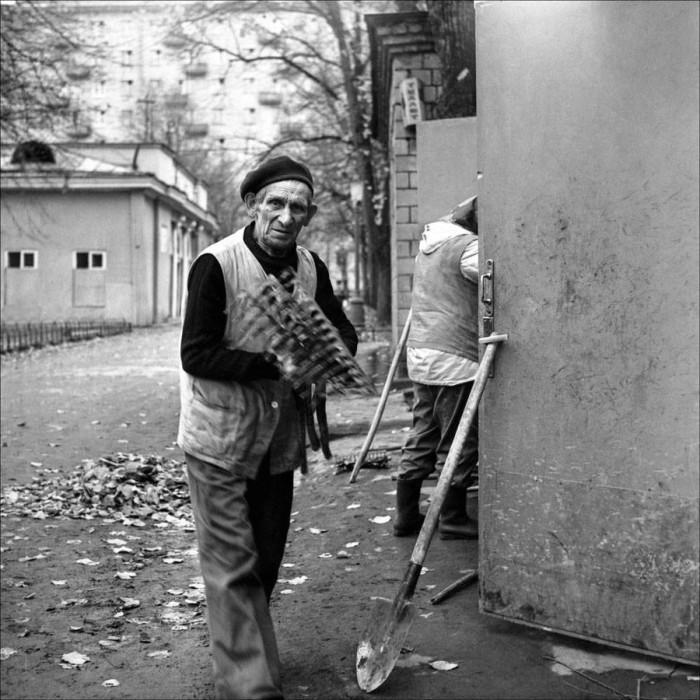 Дворники на Патриарших в 1983 году.