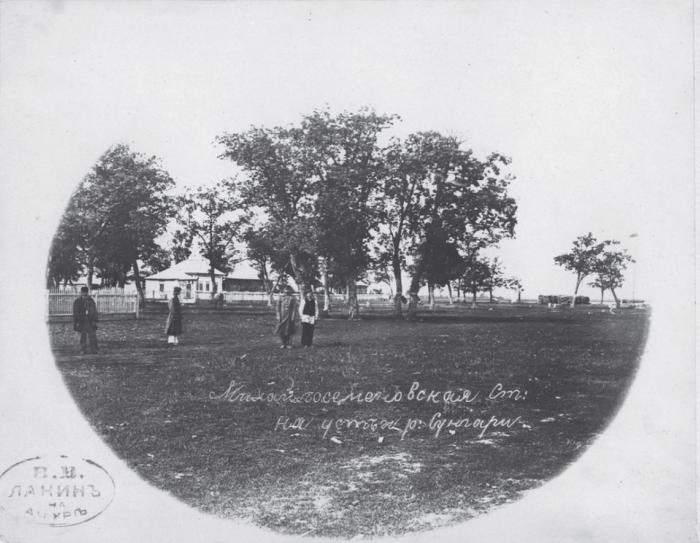 Михайло-Семеновская станица в устье реки Сунгари. Россия, 1880 годы.