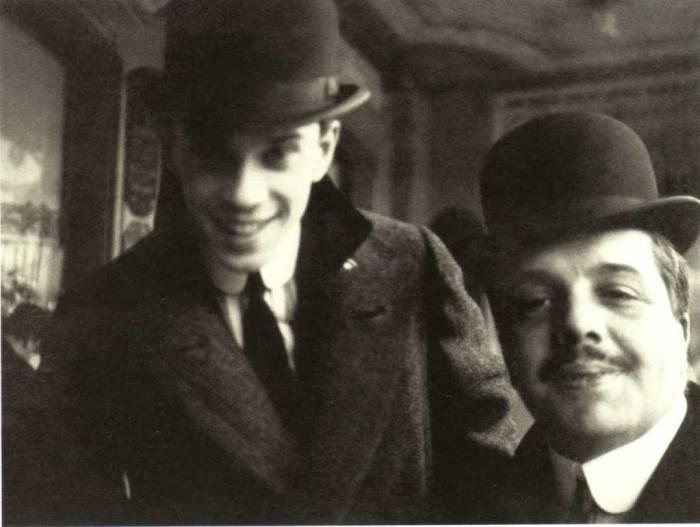 Вацлав Нижинский и Сергей Дягилев в Ницце в 1911 году.