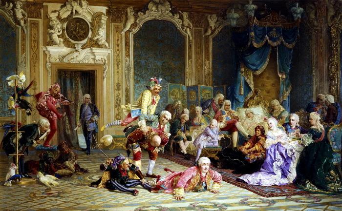 Шуты при дворе императрицы Анны Иоанновны.