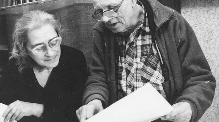 Академик Андрей Сахаров с женой Еленой Боннэр.
