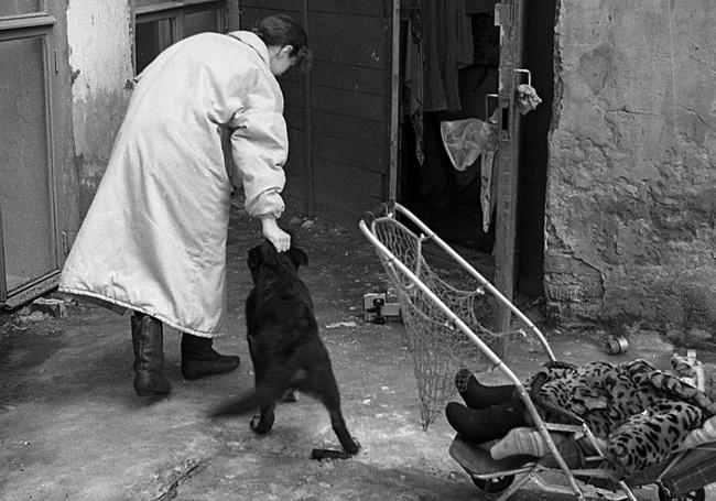 Чёрно-белый кадр казанского фотохудожника Евгения Канаева.