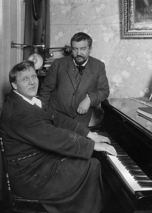 Фёдор Шаляпин и Александр Куприн в начале 1910-х годов. Финляндия, Куоккала.