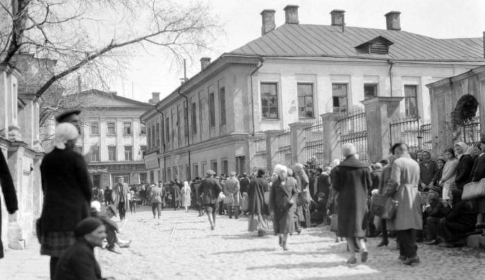 Старинный переулок в районе Замоскворечье. СССР, Москва, 1920-е годы.